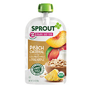 Sprout Stage 2 Peach Oatmeal With Coconut Milk & Pineapple