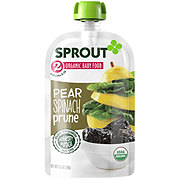 Sprout Stage 2 Pear Spinach Prune Organic Baby Food