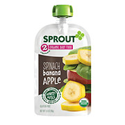 Sprout Stage 2 Spinach Banana Apple Organic Baby Food