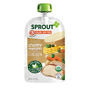 Sprout Stage 3 Creamy Vegetables with Chicken Organic Baby Food
