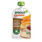 Sprout Stage 3 Harvest Vegetables Apricots with Chicken Organic Baby Food