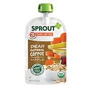 Sprout Stage 3 Pear Carrot Oatmeal with Maple Organic Baby Food