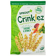 Sprout Toddler Crinklez Cheesy Spinach