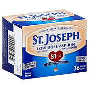 St. Joseph Aspirin Pain Reliever 81 mg Enteric Coated Tablets