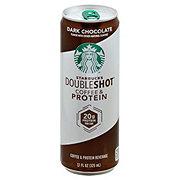 Starbucks Dark Chocolate Double Shot Coffee and Protein