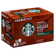 Starbucks Decaf House Blend Medium Roast Single Serve Coffee K Cups