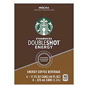 Starbucks Double Shot Mocha Energy Coffee Drink 11 oz Cans