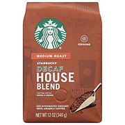 Starbucks Ground Decaf House Blend Medium Roast Coffee