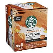 Starbucks Pumpkin Spice Caffe Latte Single Serve Coffee K Cups