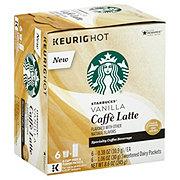 Starbucks Vanilla Caffe Latte Single Serve Coffee K Cups