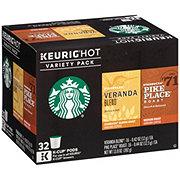 Starbucks Variety Pack: Veranda Blend & Pike Place Roast Single Serve Coffee K Cups