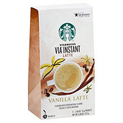 Starbucks Via Latte Vanilla Latte Instant Coffee Packets