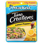 StarKist Tuna Creations Chunk Light Tuna Zesty Lemon Pepper Single Serve Pouch