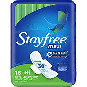 Stayfree Maxi Maxi Super Long Pads With Wings