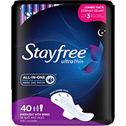 Stayfree Ultra Thin Overnight Pads with Wings