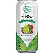 Steaz Iced Teaz 100% Natural Lime Pomegranate White Tea