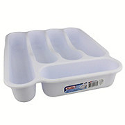 Sterilite 5 Compartment Cutlery Tray, White