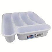Sterilite 5 Compartment Cutlery Tray, White