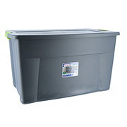 Sterilite Flat Gray Latch Tote