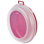 Sterilite Red Nesting Wreath Box with Clear Cover
