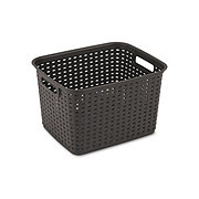 Sterilite Tall Weave Basket, Cement Grey