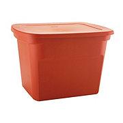 Sterilite Tote Burnt Orange Tote U2011 Shop Storage Bins At Hu2011Eu2011B