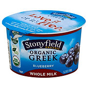 Stonyfield Greek Whole Milk Blueberry Yogurt