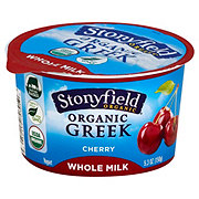 Stonyfield Greek Whole Milk Yogurt Cherry