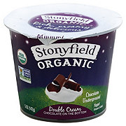 Stonyfield Organic Double Cream Chocolate Underground Yogurt