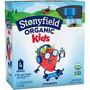 Stonyfield Organic Kids Low-Fat Strawberry Yogurt Pouches
