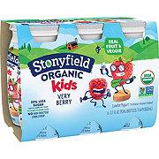 Stonyfield Organic Kids Low-Fat Very Berry Yogurt Smoothie 3.1 oz Bottles