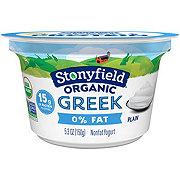 Stonyfield Organic Non-Fat Plain Greek Yogurt