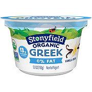 Stonyfield Organic Non-Fat Vanilla Greek Yogurt