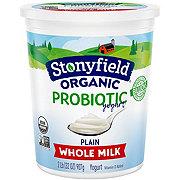 Stonyfield Organic Whole Milk Plain Probiotic Yogurt