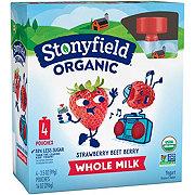 Stonyfield Organic Whole Milk Strawberry Beet Berry Yogurt Pouches