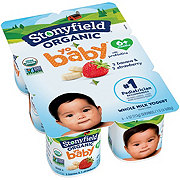 Stonyfield Organic YoBaby Whole Milk Banana & Mango Yogurt, 6 PK