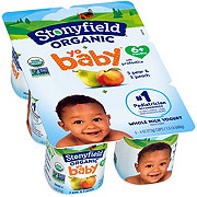 Stonyfield Organic YoBaby Whole Milk Peach & Pear Yogurt, 6 PK