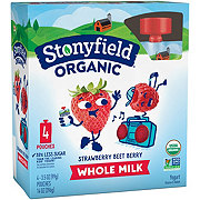 Stonyfield Organic YoTot Yogurt Pouch, Strawberry Beet Berry