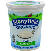 Stonyfield Smooth & Creamy Lowfat Plain Yogurt