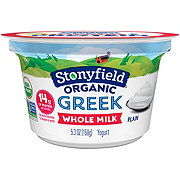 Stonyfield Whole Milk Plain Greek Yogurt