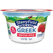Stonyfield Whole Milk Strawberry Greek Yogurt