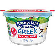 Stonyfield Whole Milk Vanilla Bean Greek Yogurt