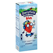 Stonyfield YoKids Squeezers Lowfat Strawberry Yogurt