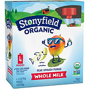Stonyfield YoToddler Pear Spinach Mango Yogurt Pouches