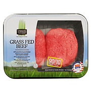 Strauss Grass Fed Ground Beef Patties 90%