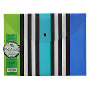 Studio C Fashionista Collection Poly Snap Folder, Colors May Vary
