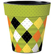 Studio M Halloween Argyle Planter