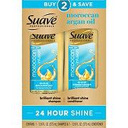 Suave Moroccan Infusion Shine Shampoo and Conditioner 2 pk