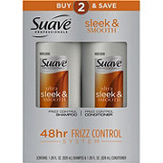 Suave Twin Pack Shampoo Conditioner Sleek