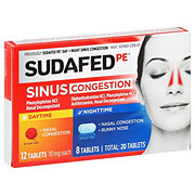 Sudafed PE Day + Night Sinus Congestion Tablets